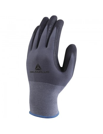 VE727 POLYAMIDE SPANDEX KNITTED GLOVE - NITRILE/PU PALM + DOTS