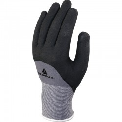 VE729 KNITTED POLYAMIDE SPANDEX® GLOVE WITH NITRILE/PU COATING PALM - GAUGE 15